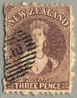 1862-64, 3 d., brown lilac, wmk large star, perf. 13, neat cancel, fresh and des