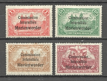 1920 Germany Joining of Marienwerder (CV $20, Full Set)