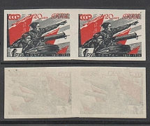 1938 USSR. 20th anniversary of the Red Army and Navy. Chapaev by the machine gun