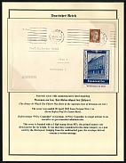 1942 Souvenir cover with commemorative label depicting The House In Which The Fuhrer Was Born in the Austria