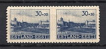 1941 30pf Occupation of Estonia, Germany (MISSED Perforation, Print Error, CV $+++, MNH)