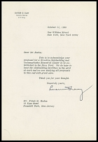 AUTOGRAPHS OF FAMOUS PEOPLE FROM FRANK M. RUDON COLLECTION - GENERAL LUCIUS D. CLAY (1898-1978), deputy to General Dwight D. Eisenhower in 1945, Commander in Chief of the United States Forces in Europe