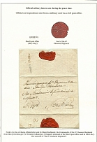 Lithuania. Letter from Shavli to Wenden. 1825 1825. Sheet of the exhibition coll