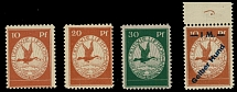 Germany-Air Post Semi-Officials 1912, Rhine-Main, 10pf-30pf and ''Gelber Hund''