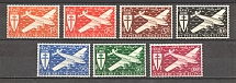 1942 St. Pierre & Miquelon French Colony Airmail (CV $10, Full Set)