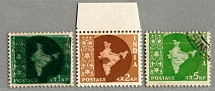 1957, 1 n.p., 2 n.p., 5 n.p., (3) stamps with printing errors, double