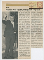 AUTOGRAPHS OF FAMOUS PEOPLE FROM FRANK M. RUDON COLLECTION - FOREIGN POLITICAL LEADERS: Harold Wilson (1916-1995) Prime Minister of the United Kingdom, Dr. Hendrik Verwoerd (1901-1966), Prime Minister of South Africa, Eduardo Frei (1911-1982)