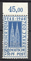 1948 Germany British and American Zones (Dot after 'Pf', MNH)