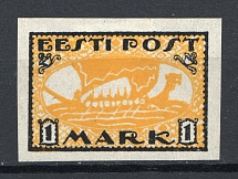 1919-20 1M Estonia (PROBE or Variety on GLOSSY PEARL Paper, Proof)