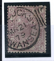 GB - Victoria 1873 2½d sg141 plate 12 variety blind perf top and bottom vfu neat