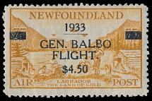 Canada - Newfoundland - Air Post stamps, 1933, General Balbo Flight