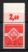 1935 12pf Third Reich, Germany (Mi. 572y, Horizontal Gum, Signed, CV $200, MNH)