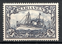 1901 Mariana Islands German Colony 3 Mark