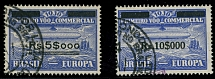 Brazil Air Post Semi-Official issues 1930, Zeppelin stamps, 2nd set, used