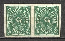 1922-23 Hyperinflation Pair 4 M (Imperf, CV $100)