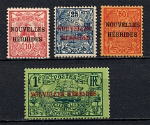 1908 New Hebrides, French Colonies (CV $65)