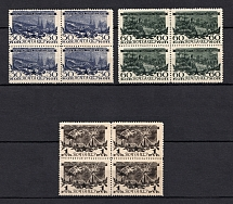 1945 3rd Anniversary of the Victory Moscow, Soviet Union USSR (Blocks of Four, Full Set, MNH)