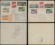 Soviet Union AIRSHIP (DIRIGIBLE) ISSUES: 1931, 10k-1r, imperf and perf sets