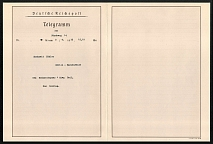 1933 The Special Greetings Big Size Telegram overleaf sent from the Rally Grounds, Reich Eagle