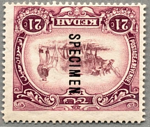 1919, 21 c., mauve and purple, wmk Crown to left of CA and reversed - SG 22y,