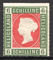 1867-73 Heligoland Germany 6 Sh (Rose-Red)