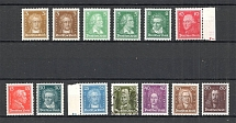 1926-27 Germany Weimar Reich (CV $115, Signed, Full Set, MH/Canceled)