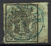 1851-55 Hanover Germany 1 Th (Full Set, Cancelled)
