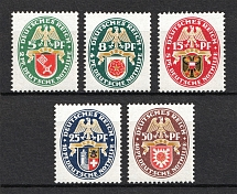 1929 Third Reich, Germany (Mi. 430-434, Full Set, CV $310, MNH)