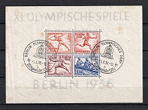 1936 Third Reich, Germany (Block, Sheet №6, CV $85, Special Cancellation BERLIN)