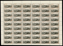 Soviet Union, 1947, Jubilee of Moscow, two complete sheets of 54 (6x9), 49 (7x7)
