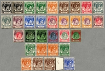 1937-41, 1 c. - 5 $., beautiful and overcomplete set of Die I and Die II (32),
