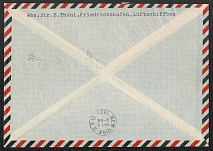 1936 Zeppelin Hindenburg cover to North America
