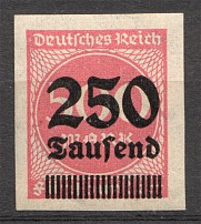 1923 Germany 250.000 Mark (Imperf, Signed, CV $100)