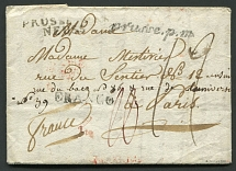 1810. Private letter from Moscow to France via Prussia. 1810. A private letter w