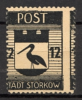1945 Storkow Germany Local Post 12 Pf (Shifted Perf, MNH)