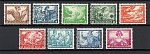 1933 Third Reich, Germany (Mi. 499A-507A, Perf. 14x13, Full Set, CV $3,800, MNH)
