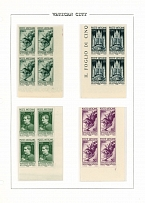Vatican City 1936, Catholic Press Exposition, 5c-5L, set of 8 in blocks of 4