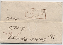 1847. Private letter from Amsterdam (Holland) to St. Petersburg. 1836. Private l