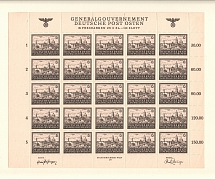 1943-44 Germany General Government Block Full Sheet 6 Zl (MNH)