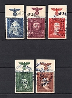 1944 General Government, Germany (Eagle on the Field, Full Set, Canceled)