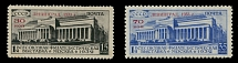 Soviet Union, 1933, Leningrad Philatelic Exhibition, red surcharges, cplt set