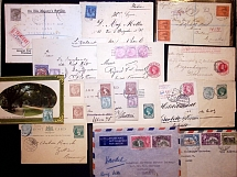 1891-70 Selection of 45 covers and cards, showing a range a different frankings