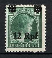 1940 Germany Occupation of Luxembourg 12 Rpf (SHIFTED Overprint)