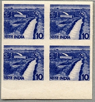 1979, 10 p., block of (4), bottom margin piece, imperforated color proof - deep