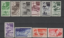 1935 USSR. Salvation of Chelyuskinites. Soloviev 486 - 495. A series of 10 stamp