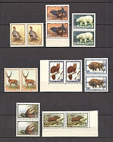 1957 USSR Fauna of the USSR Pairs (Full Set, MNH)