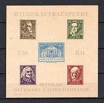 1946 Thuringia, Soviet Russian Zone of Occupation, Germany (Block, CV $90, MNH)