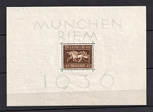 1937 Third Reich, Germany (Souvenir Sheet Mi. 4x, CV $15)