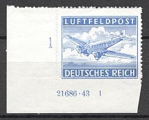 1942-43 Germany Reich Feldpost (Control Text and Number, Full Set, MNH)