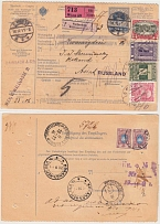 1911 Russian Empire. International money order (cash on delivery). Vienna -